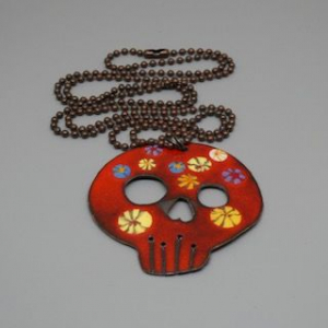 Sugar Skull Enamel Necklaces